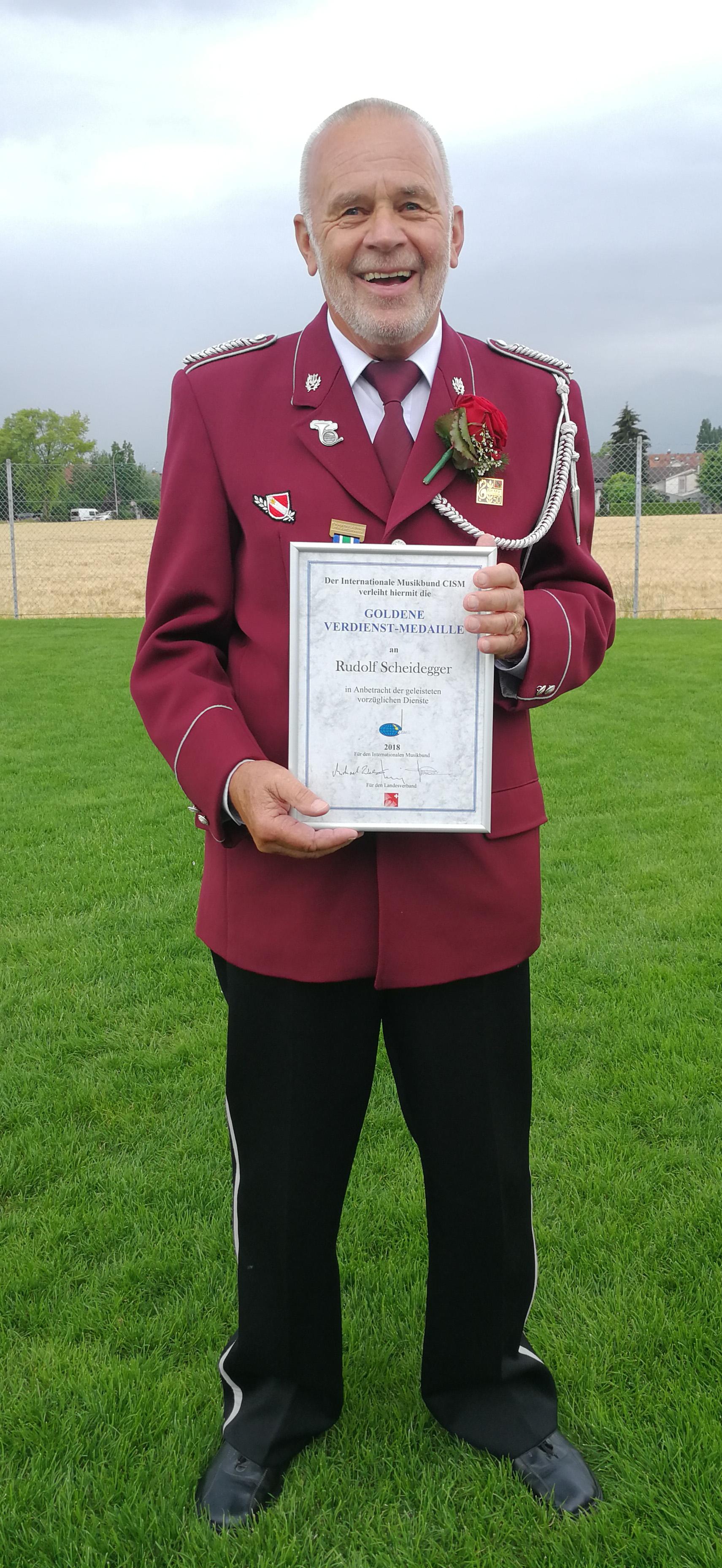 Ruedi Scheidegger CISM Veteran